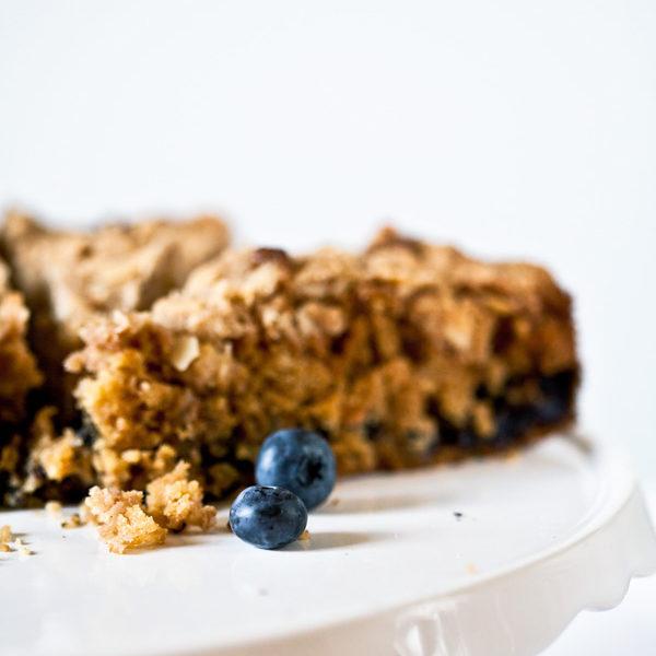 Coffeecake mit Blaubeeren und Mandeln. Ein Rezept für jeden Tag.