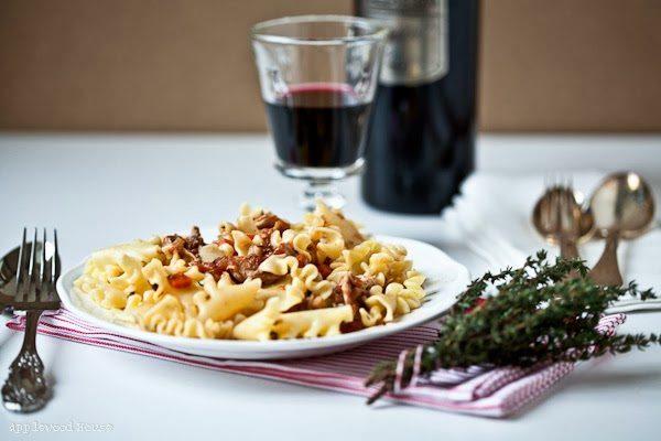 Rezept für Pulled Chicken mit Rotwein