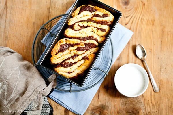 Zimt-Pullapart-Bread aus Knack und Back Zimtschneckenteig
